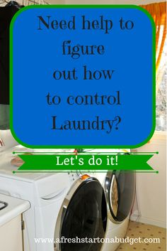 Simple organization ideas: Need Help to figure out how to control laundry