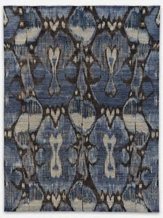 Natural wool carpet flooring and hand-knotted area rugs. Textiles, Textile Patterns, Print Patterns, Textile Design, Carpet Flooring, Rugs On Carpet, Cushion Fabric, Wool Carpet, Ikat