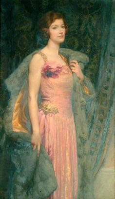Miss Edith Fitton, 1926 by Sir Frank Dicksee (1853-1928)