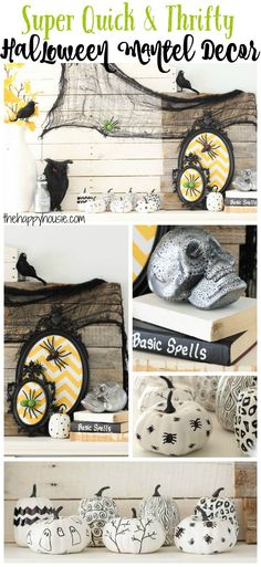 Ghost Night Light - 20+ Easy DIY Halloween Decorations on Lalymom - cheap easy diy halloween decorations