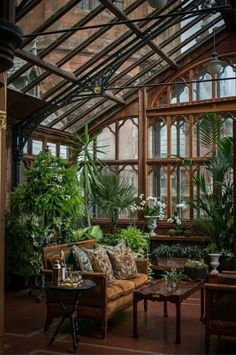 Greenhouse off the master bedroom at Mount Stuart Castle on the Isle of Bute Sco. Greenhouse off t Patio Interior, Interior Exterior, Exterior Design, Interior Architecture, Dream Home Design, My Dream Home, House Design, Future House, My House