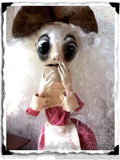 Gothic Art Doll OOAK Creepy Cute by FadedRoseFactoryEtc on Etsy, $215.00