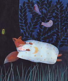 Simona Mulazzani Dream Illustration, Graphic Illustration, Tender Is The Night, Good Night Sleep Tight, Kids Graphics, Fox Art, Fairy Tales, Character Design, Cartoon
