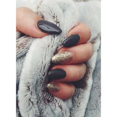 Mansion Lane(Orly Gel Fx) Dark Grey & Halo(Orly Gel Fx) Sparkle Coffin Nails