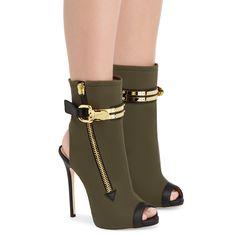 Boots Roxie, colore Verde   Giuseppe Zanotti