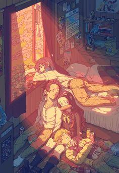 Kimetsu no Yaiba Manga Anime, Fanarts Anime, Anime Demon, Otaku Anime, Anime Guys, Anime Art, Manga Boy, Cool Anime Wallpapers, Cute Anime Wallpaper