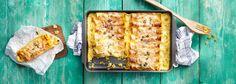 Das perfekte Pasta-Gericht für die Kürbiszeit: Köstliche gefüllte Cannelloni mit Kürbis. Mit dem REWE Rezept ganz einfach zuhause zubereiten! »