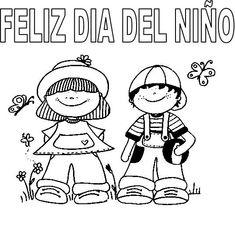 Imagenes Dia Del Ni?o Para Colorear Tatoos, Crafts For Kids, My Favorite Things, Comics, School, Cute, Spanish, Printables, Infant Crafts