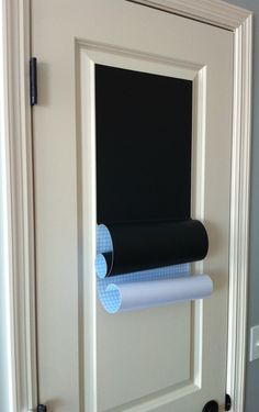 Make a chalkboard on a door with this tutorial. http://www.tealandlime.com/2011/07/easy-chalkboard-door/