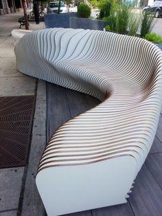 Interesting outdoor furniture installation down my street