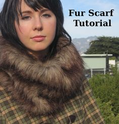 Saw a girl with a fur scarf on recently.it looked a little softer and not as much, but was awesome looking! DIY Faux Fur Scarf by mollytov Sewing Hacks, Sewing Tutorials, Sewing Ideas, Sewing Projects, Diy Clothing, Sewing Clothes, Scarf Tutorial, Wool Cape, Diy Scarf