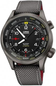 Oris Watch Altimeter REGA Limited Edition Feet Scale- 01 733 7705 23 Watch Available to buy online. Watches For Men Unique, Affordable Watches, Popular Watches, Vintage Watches For Men, Luxury Watches For Men, Cool Watches, Cartier, Silver Pocket Watch, Seiko Watches
