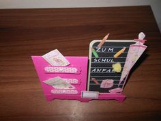 Kommodenkarte Schulanfang Birthday Candles, Back To School, School, Cards