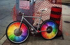 Ride the rainbow! I always sneak a few paint chips & now I have even more of a reason!