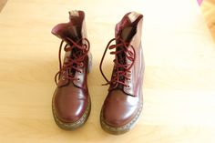 Dr. Martens' cherry red smooth boots via Gaspard, Basile et Lulli. Click on the image to see more!