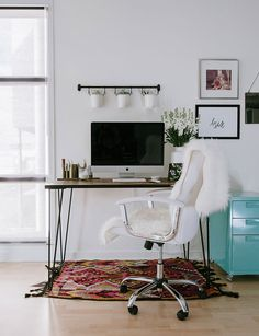 Home Office Valerie Wildes' Marina Del Rey Studio Loft Tour   The Everygirl