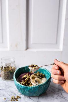 Roasted Cashew-Almond Yogurt Bowl with Stove-Top Matcha Green Tea ...