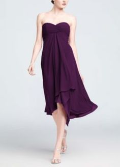 Plum Bridesmaid dress by Color by Davids Bridal