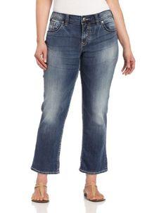 Silver Jeans Juniors Plus-Size Suki Flap Capri $68.99 #topseller