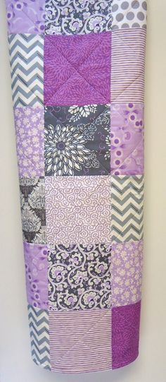 Baby Girl Quilt Modern Baby Quilt Gray Grey by NowandThenQuilts, $92.00