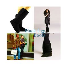 Katie McGrath - Black Ugg Boots