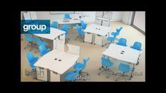 Desde mi punto de vista un mobiliario flexible es esencial para que buenas prácticas de enseñanza-aprendizaje se produzcan en un aula. ¿Qué opináis Agentes? Os aconsejo ver el vídeo, os puede aportar muchas ideas. Classroom Furniture, Classroom Supplies, Company Office Ideas, Tanker Desk, Commercial Office Furniture, Interactive Learning, Learning Environments, Activity Games, Best Practice