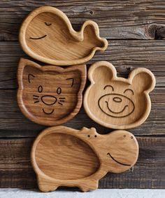 Wood Projects, Woodworking Projects, Kids Plates, Animal Plates, Animal Snacks, Wooden Plates, Cnc Wood, Wood Coasters, Diy Crafts For Kids