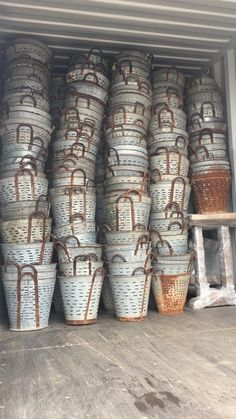 Galvanized Sheet, Galvanized Buckets, Galvanized Metal, Olive Bucket, Firewood Holder, Aging Wood, Garbage Can, String Lights Outdoor, Porch Decorating