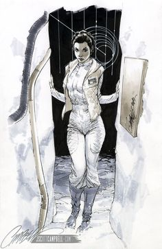 STAR WARS: HOTH Leia by *J-Scott-Campbell