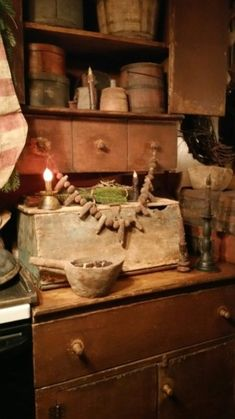 primitive homes decorated for christmas