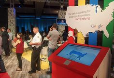 who does google trade show set ups - Google Search Trade Show Booth Design, Facebook, Basketball Court, Twitter, American, Business, Google Search, Store, Business Illustration