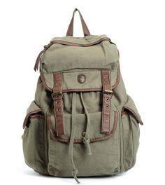 Laptop Backpack Bag Big Leisure Leather Canvas Backpack Leather School Bag Shoulder IPAD Bag ********************************************** We use selected thick genuine cow leather, quality canva Vintage Backpacks, Cute Backpacks, Girl Backpacks, School Backpacks, Canvas Backpacks, Green Backpacks, Rucksack Backpack, Laptop Backpack, Travel Backpack