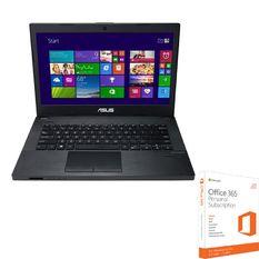 Bộ Laptop ASUS PU450CD-WO027D - i3- 14 inch HD (xám) và Phần mềm office 365 bản quyền