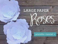 Let me show you how to create easy ginormous paper roses with just card stock and tape. These look fabulous as a wedding photo backdrop, centerpieces, and decor