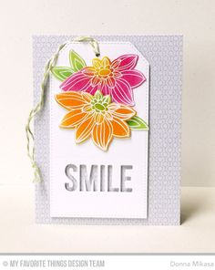 Today the Creative Team is sharing more projects using the Fancy Flowers  Card Kit  with MFT products you may already own.       I h...