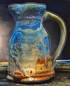 Azure mystical pottery....