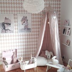 A cute pink girls room | fashionistascatwalk | Sunday in color