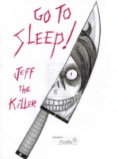 """yay - So, this was inspired by the CreepyPasta """"Jeff the Killer"""" (as you can see). It was made with pen and a red pencil on paper and. Jeff the Killer - Go to sleep! Creepy Sketches, Creepy Drawings, Dark Art Drawings, Halloween Drawings, Face Drawings, Horror Drawing, Horror Art, Jeff The Killer, Scary Things To Draw"""
