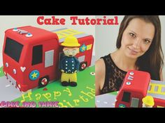 Fireman Sam Fire Truck Cake Tutorial. How to. Bake and Make with Angela Capeski - YouTube