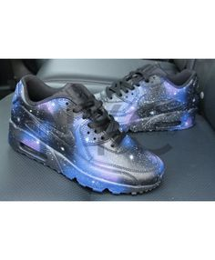 497d70ffe0ebb6 Nike Air Max 90 Custom Black Galaxy Shoes Nike Air Max Mens