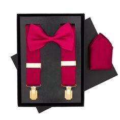BRITISH BRACES Wine Burgundy Classic Silk Bow Tie, Braces and Handkerchief Gift Set. Pinned by Amy of www.amysshop.co.uk on Gifts for Tango dancers. Tango Dancers, Silk Bow Ties, Braces, 3 Piece, Amy, Burgundy, British, Bows, Wine