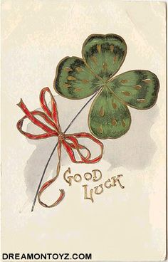 vintage St. Patrick's Day Good Luck  postcard