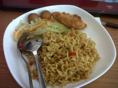 my lunch....indonesian noodle.... indomie