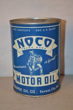 Noco Motor Oil Round Metal Can | Antique Advertising