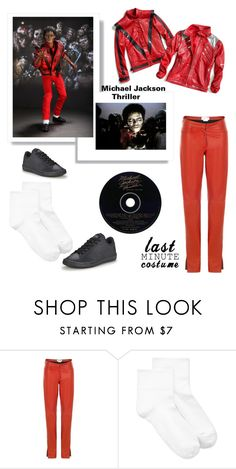 """""""Michael Jackson Thriller"""" by im-karla-with-a-k ❤ liked on Polyvore featuring Loewe, Hue and NIKE"""