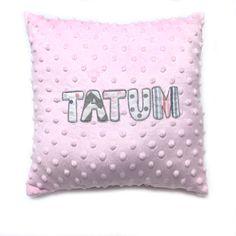 Pink Appliquéd Name Pillow