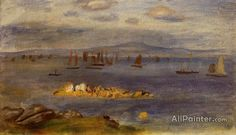 Pierre Auguste Renoir The Coast Of Brittany, Fishing Boats oil painting reproductions for sale