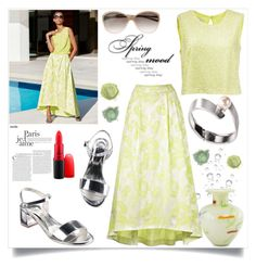 """""""madeleine spring day look"""" by rousou ❤ liked on Polyvore featuring NOVICA and MAC Cosmetics"""