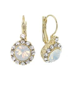 EE1260-GOLD WHITE OPAL