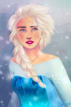 megchandoodles:  Realistic Elsa, hoping to make one for Anna sometime Facebook + Instagram